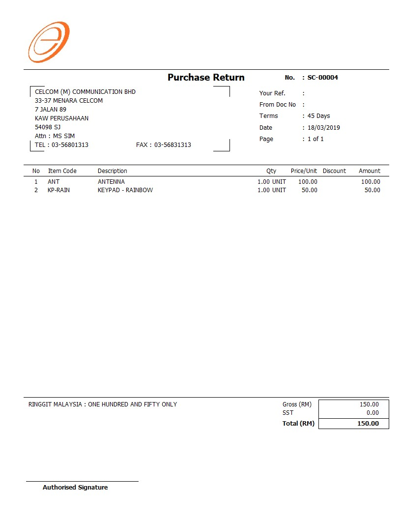Invoice Format free download | SQL Accounting | SQL Payroll