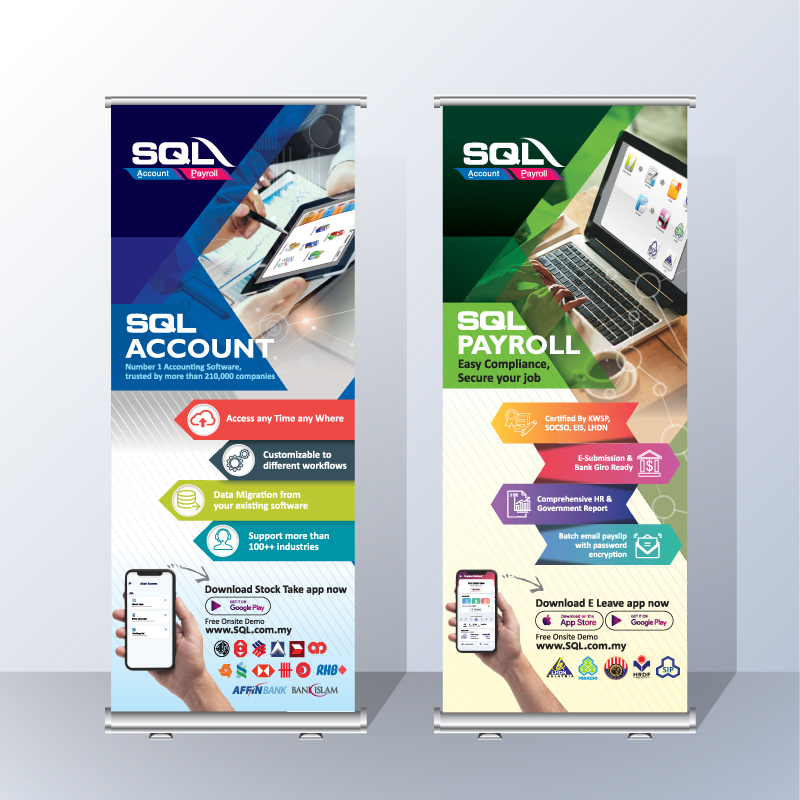Bunting Banner - SQL Account & Payroll (New)